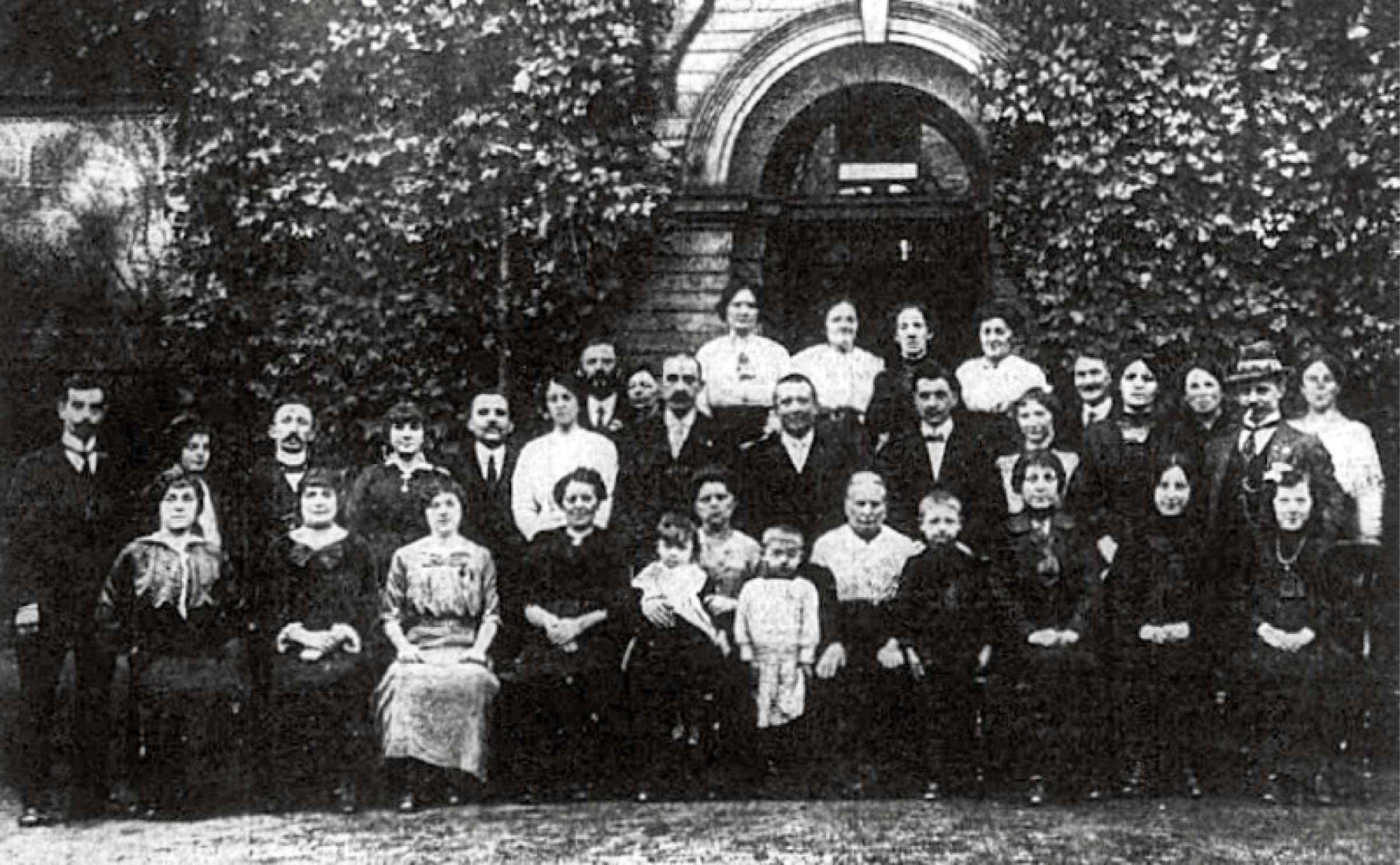 The Belgium refugees who made their home in Baildon during the First World War.