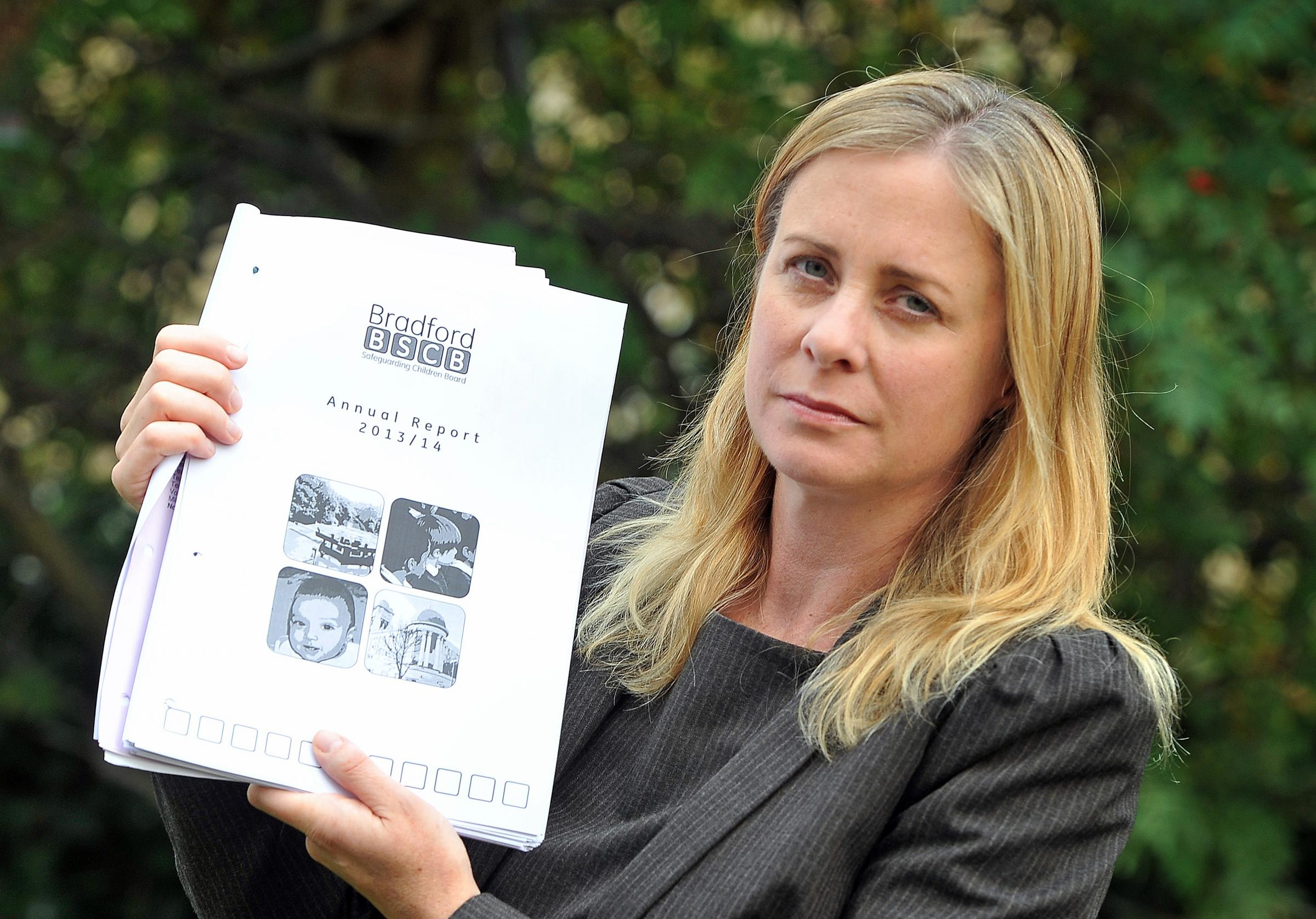 OPEN DEBATE: Councillor Debbie Davies, with a copy of the report into child deaths